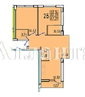 Продается 2-комнатная квартира в новострое на ул. Жм Дружный — 38 690 у.е.