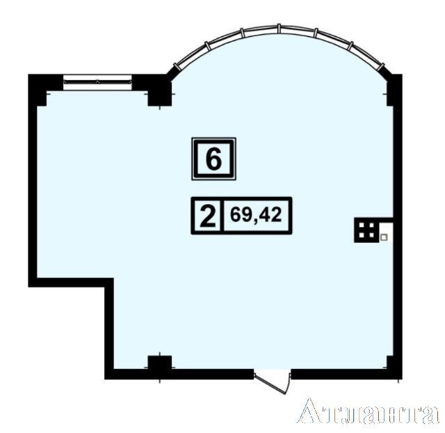 Продается 1-комнатная квартира в новострое на ул. Генуэзская — 66 550 у.е. (фото №2)