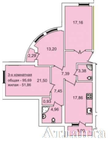 Продается 3-комнатная квартира в новострое на ул. Педагогическая — 80 000 у.е. (фото №2)