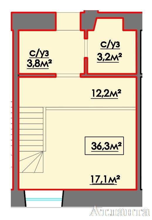 Продается Многоуровневая квартира на ул. 10 Апреля — 28 160 у.е. (фото №3)
