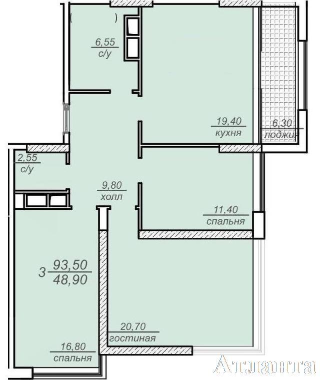Продается 3-комнатная квартира в новострое на ул. Французский Бул. — 128 000 у.е. (фото №3)