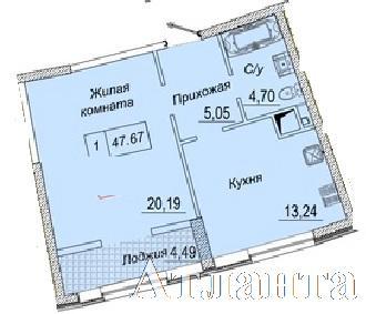 Продается 1-комнатная квартира в новострое на ул. Каманина — 36 470 у.е. (фото №4)