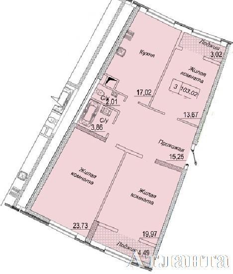 Продается 3-комнатная квартира в новострое на ул. Каманина — 81 980 у.е. (фото №2)