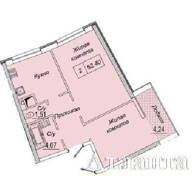 Продается 2-комнатная квартира в новострое на ул. Каманина — 46 050 у.е. (фото №2)