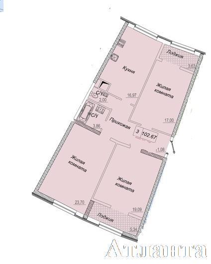 Продается 3-комнатная квартира в новострое на ул. Каманина — 98 900 у.е. (фото №2)