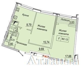 Продается 2-комнатная квартира в новострое на ул. Каманина — 52 290 у.е. (фото №2)