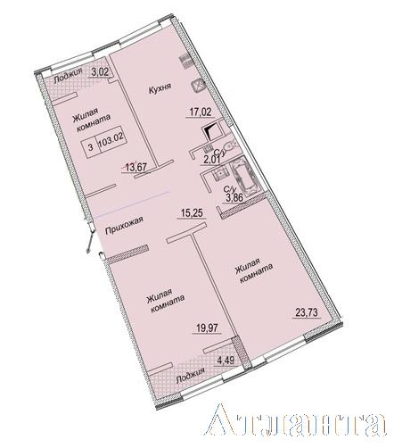 Продается 3-комнатная квартира в новострое на ул. Каманина — 84 350 у.е. (фото №2)