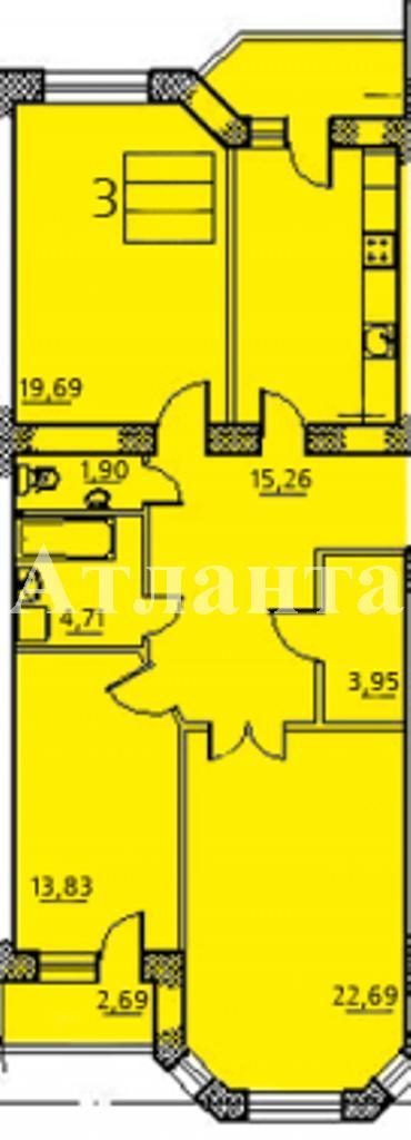 Продается 3-комнатная квартира в новострое на ул. Заболотного Ак. — 74 000 у.е. (фото №3)