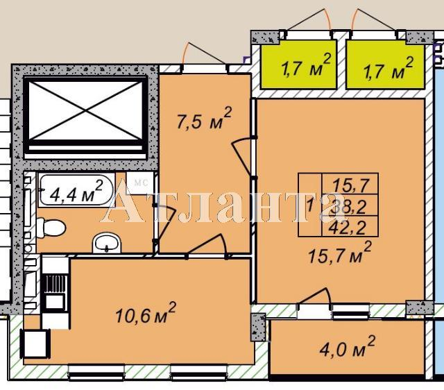 Продается 1-комнатная квартира в новострое на ул. Рихтера Святослава — 27 370 у.е.