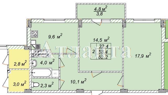 Продается 2-комнатная квартира в новострое на ул. Рихтера Святослава — 41 940 у.е.