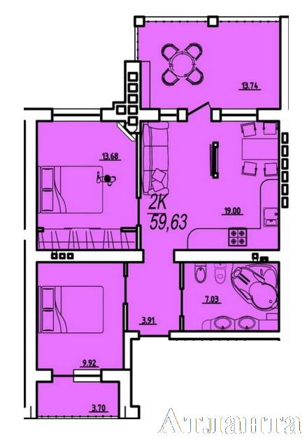 Продается 1-комнатная квартира в новострое на ул. Парковая — 27 000 у.е. (фото №2)