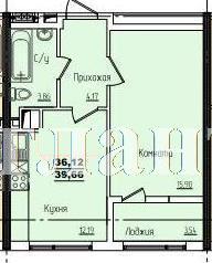 Продается 1-комнатная квартира в новострое на ул. Жм Дружный — 26 170 у.е.