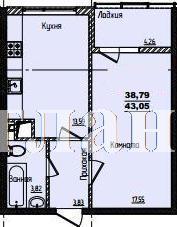 Продается 1-комнатная квартира в новострое на ул. Жм Дружный — 28 410 у.е. (фото №3)