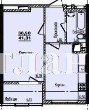 Продается 1-комнатная квартира в новострое на ул. Жм Дружный — 27 260 у.е.