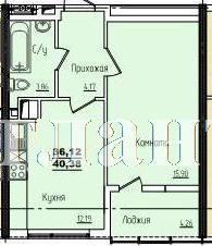 Продается 1-комнатная квартира в новострое на ул. Жм Дружный — 25 430 у.е. (фото №3)