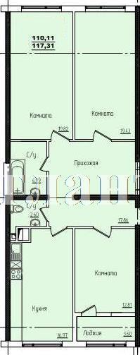 Продается 3-комнатная квартира в новострое на ул. Жм Дружный — 70 910 у.е.