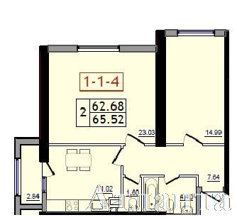 Продается 2-комнатная квартира в новострое на ул. Сахарова — 34 450 у.е.