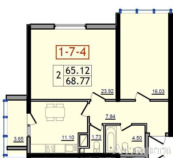 Продается 2-комнатная квартира в новострое на ул. Сахарова — 34 390 у.е. (фото №3)