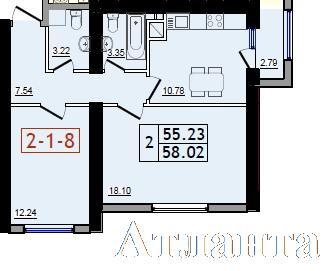 Продается 2-комнатная квартира в новострое на ул. Сахарова — 31 760 у.е. (фото №3)