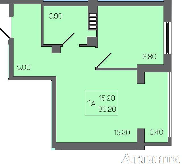 Продается 1-комнатная квартира в новострое на ул. Бочарова Ген. — 30 960 у.е.