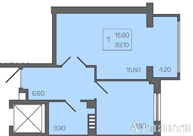 Продается 1-комнатная квартира в новострое на ул. Бочарова Ген. — 34 230 у.е. (фото №2)