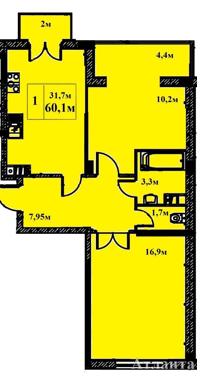 Продается 2-комнатная квартира в новострое на ул. Бочарова Ген. — 46 280 у.е. (фото №2)