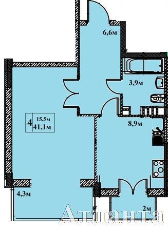 Продается 1-комнатная квартира в новострое на ул. Бочарова Ген. — 36 170 у.е.