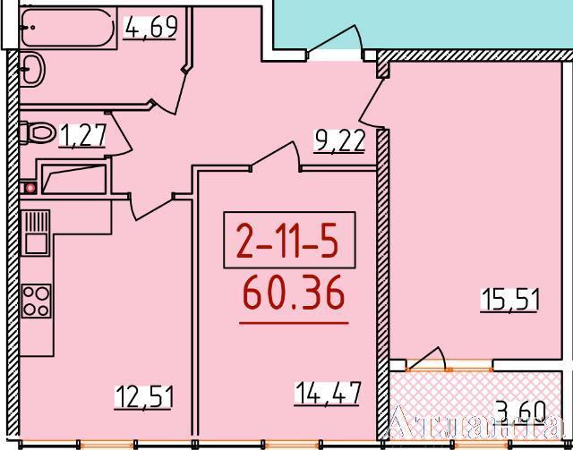 Продается 2-комнатная квартира в новострое на ул. Бассейная — 38 280 у.е. (фото №2)