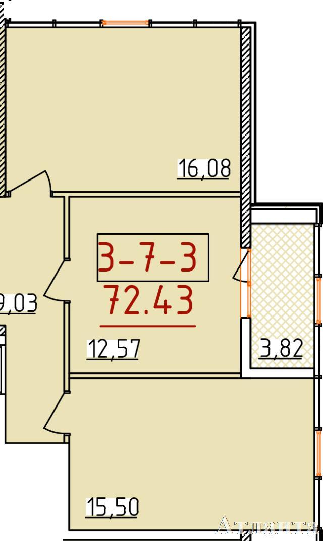 Продается 3-комнатная квартира в новострое на ул. Бассейная — 42 370 у.е.