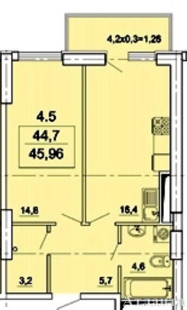 Продается 1-комнатная квартира в новострое на ул. Педагогическая — 44 000 у.е. (фото №2)