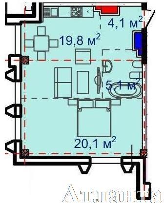 Продается 1-комнатная квартира в новострое на ул. Большая Арнаутская — 69 000 у.е. (фото №2)