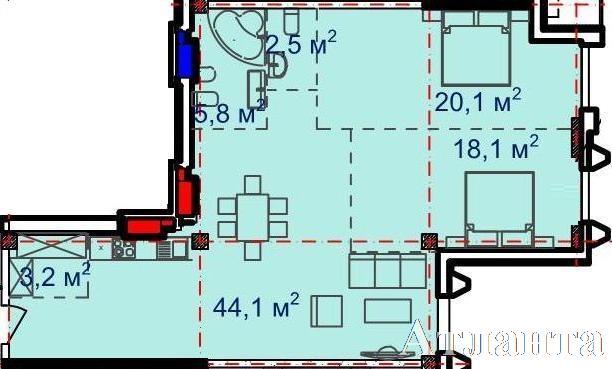 Продается 3-комнатная квартира в новострое на ул. Большая Арнаутская — 128 600 у.е. (фото №2)