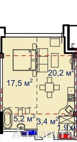 Продается 1-комнатная квартира в новострое на ул. Большая Арнаутская — 72 900 у.е. (фото №2)