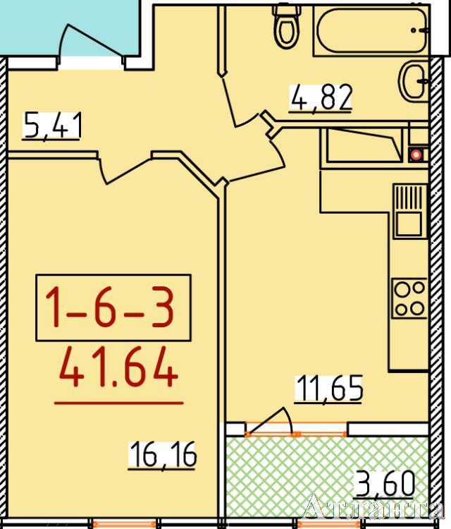 Продается 1-комнатная квартира в новострое на ул. Бассейная — 26 560 у.е. (фото №2)