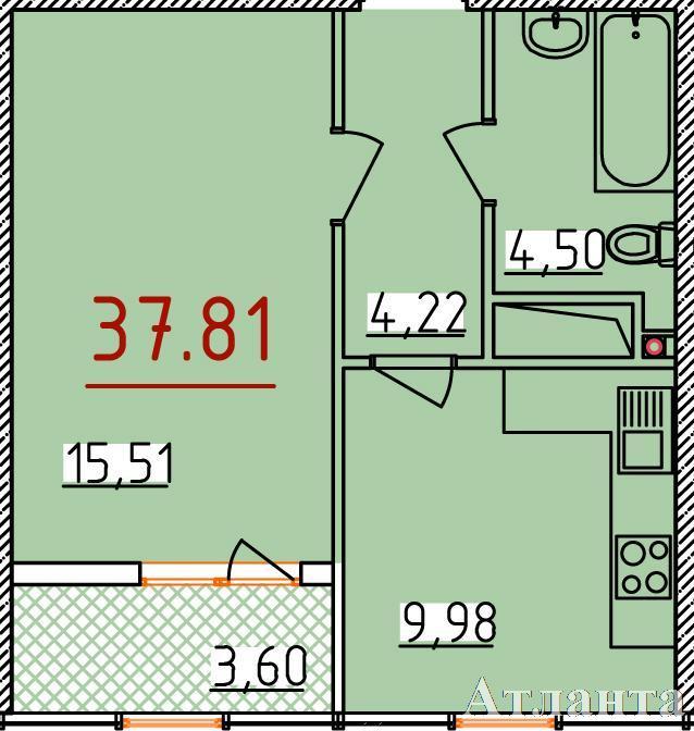 Продается 1-комнатная квартира в новострое на ул. Бассейная — 23 120 у.е. (фото №2)
