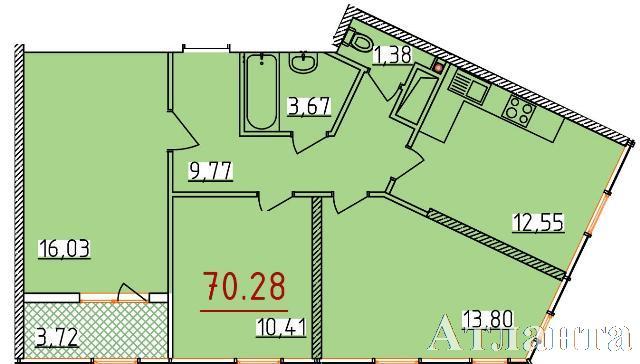Продается 3-комнатная квартира в новострое на ул. Бассейная — 41 110 у.е. (фото №2)