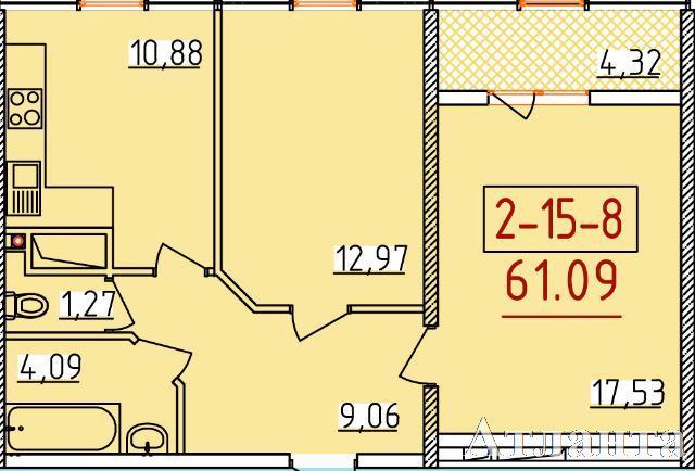 Продается 2-комнатная квартира в новострое на ул. Бассейная — 36 340 у.е. (фото №2)