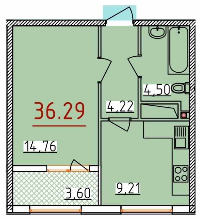 Продается 1-комнатная квартира в новострое на ул. Бассейная — 24 790 у.е. (фото №2)