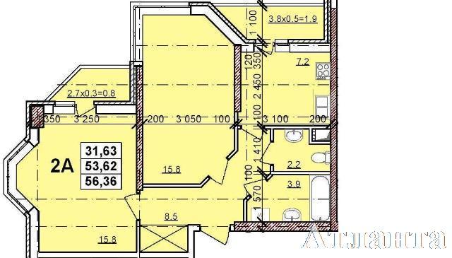 Продается 2-комнатная квартира в новострое на ул. Балковская — 39 960 у.е. (фото №3)