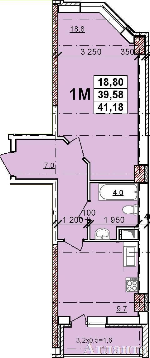 Продается 1-комнатная квартира в новострое на ул. Балковская — 28 530 у.е. (фото №2)