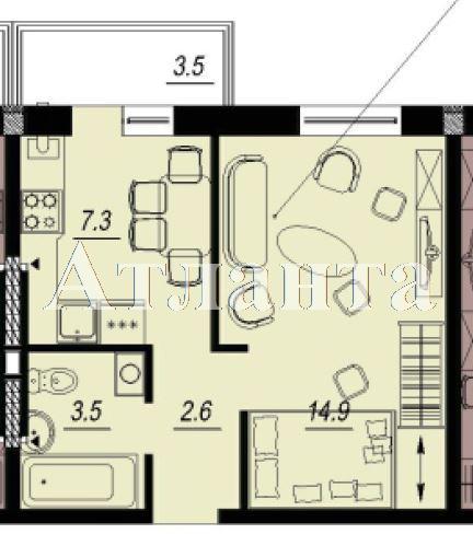 Продается 1-комнатная квартира в новострое на ул. Люстдорфская Дорога — 27 600 у.е.
