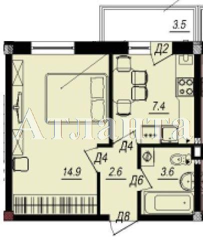 Продается 1-комнатная квартира в новострое на ул. Люстдорфская Дорога — 27 300 у.е. (фото №3)