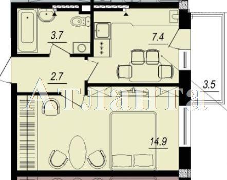 Продается 1-комнатная квартира в новострое на ул. Люстдорфская Дорога — 25 200 у.е.