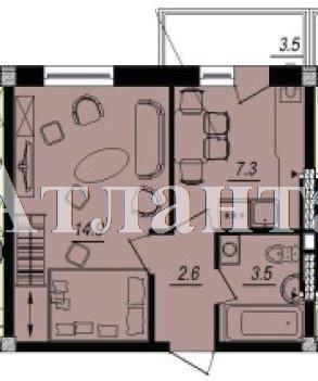 Продается 1-комнатная квартира в новострое на ул. Люстдорфская Дорога — 24 790 у.е. (фото №2)