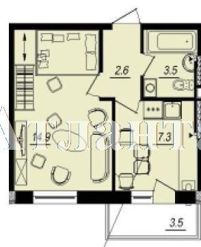 Продается 1-комнатная квартира в новострое на ул. Люстдорфская Дорога — 22 480 у.е. (фото №3)
