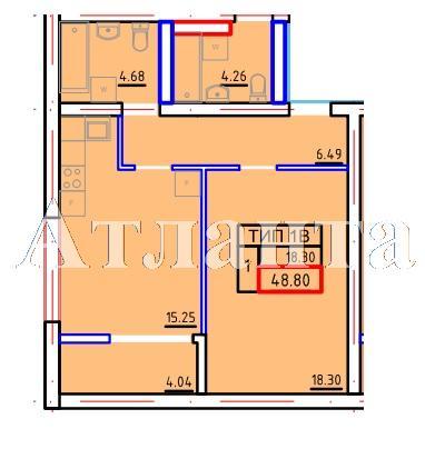 Продается 1-комнатная квартира в новострое на ул. Марсельская — 26 370 у.е. (фото №3)