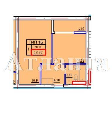 Продается 1-комнатная квартира в новострое на ул. Марсельская — 22 680 у.е.