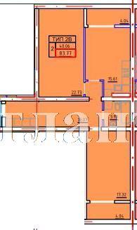 Продается 2-комнатная квартира в новострое на ул. Марсельская — 45 930 у.е. (фото №3)