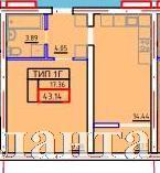 Продается 1-комнатная квартира в новострое на ул. Марсельская — 23 620 у.е.