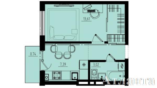 Продается 1-комнатная квартира в новострое на ул. Люстдорфская Дорога — 31 200 у.е. (фото №2)